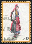 Greek regional costumes — Stock Photo