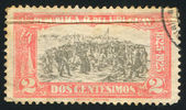 URUGUAY - CIRCA 1925: stamp printed by Uruguay, shows Landing of the 33 Immortals Led by Juan Antonio Lavalleja, circa 1925 — Stockfoto