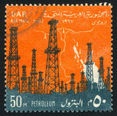 Oil towers — Stock Photo
