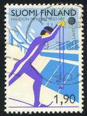 Finland Skier — Stock Photo