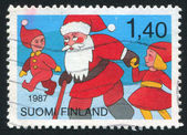Santa Claus and children — Stock Photo