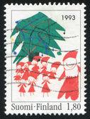 Kerstboom en elfen — Stockfoto
