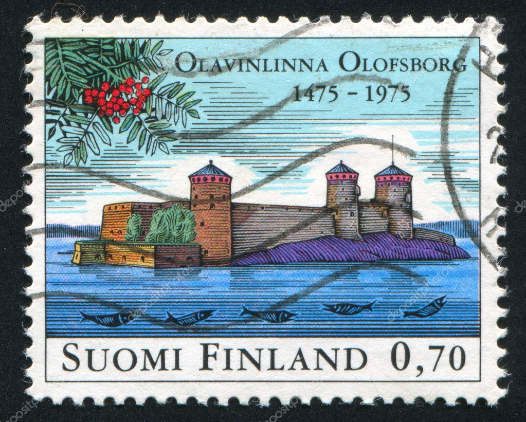 FINLAND - CIRCA 1975:  stamp printed by Finland, shows castle, circa 1975 — Stock Photo #11202928