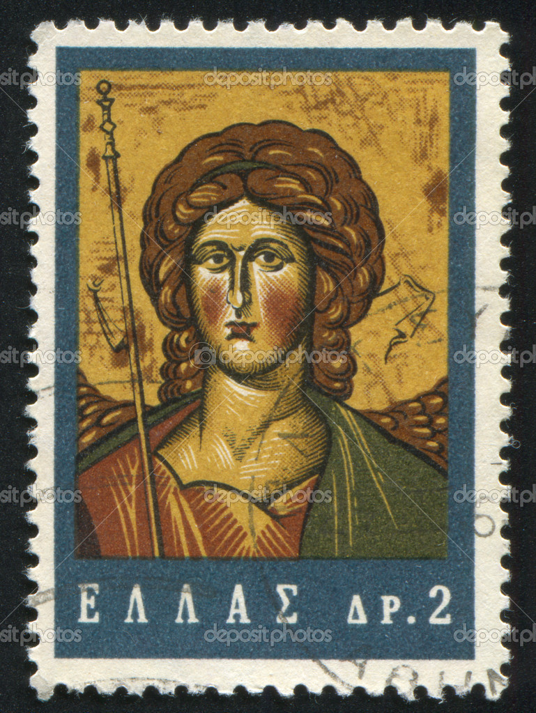 GREECE - CIRCA 1964: stamp printed by Greece, shows Archangel Michael, circa 1964 — Stock Photo #11354358