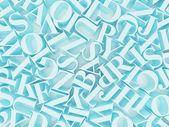 Background of alphabets — Stock fotografie