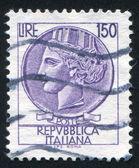 Woman who symbolize Italy — Stock Photo