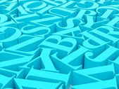 Fundo de alfabetos — Fotografia Stock