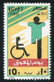 Disabled emblem — Stock Photo