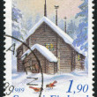 Wooden Church in Lapland - Foto Stock