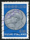 Kekkonen kafasıyla madalyasını — Stok fotoğraf