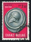 Grekisk hjälm — Stockfoto