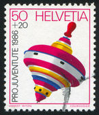 Stamp printed by Switzerland Top — Stock Photo