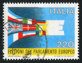 Stamp printed by Italy Flags — Stock Photo