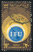 Welt-telekommunikation-tag-emblem — Stockfoto