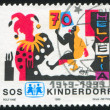 Stock Photo: Stamp printed by Switzerland Clown
