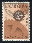 Sello imprimido por el engranaje de grecia — Foto de Stock