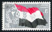 национальный флаг египта — Стоковое фото
