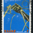 Stamp printed by Greece Hand — Stock Photo