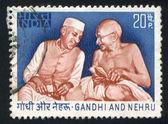 Nehru och gandhi — Stockfoto