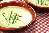 Creamy zucchini soup — Stock Photo