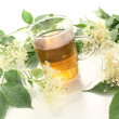 Hot elderflower tea — Stock Photo