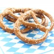 Pretzels on a napkin — Stock Photo