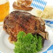 Pork knuckle with sauerkraut — Stock Photo