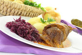 Stuffed Beef roll with pickle — Stock Photo