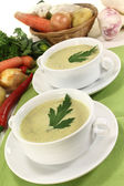 Vegetable creme soup — Stock Photo