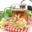 Stock Photo: Elderflower tea