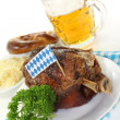 Grilled pork knuckle - Stock Photo