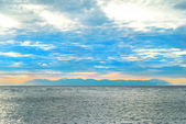 Sunset on the sea — 图库照片