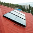 Foto de Stock  : Solar water heating system.