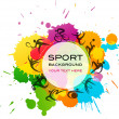 Sport background - colorful vector illustration — Stock Vector #10818760