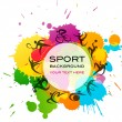 Sport background - colorful vector illustration - Stok Vektr