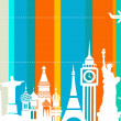 Travel background - vector - Stock Vector