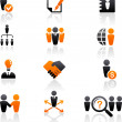 Collection of human resources icons — Stock Vector #10818779