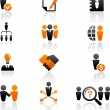 Collection of human resources icons - Stockvectorbeeld