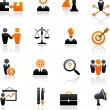 Set of business and strategy icons - Vettoriali Stock