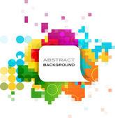Bannière abstrait coloré — Vecteur