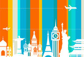 Arka plan seyahat - vektör — Stok Vektör