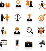 Set of business and strategy icons — Vector de stock