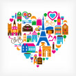 Pars love - vector illustration with set of icons — Stock Vector