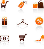 Collection of shopping icons — Stock Vector