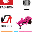 Collection of fashion icons and elements — Stock Vector #11084366