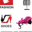 Collection of fashion icons and elements — Stock Vector