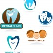 Collection of dental clinic icons — Stock Vector