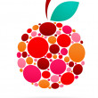 Royalty-Free Stock Vector Image: Apple icon with dotted pattern