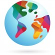 Colorful world, Earth icon — Stock Vector