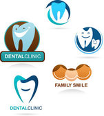 Collection of dental clinic icons — Cтоковый вектор